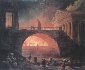 Šílený panovník podle některých zdrojů dokonce vypálil hlavní město své říše