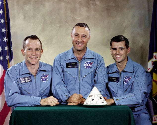 Left to Right: White, Grissom, Chaffee