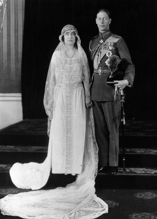 26th April 1923:  The wedding of the Duke of York (1895 - 1952), later George VI, and Lady Elizabeth Bowes Lyon (1900 - 2002).  (Photo by Hulton Archive/Getty Images)