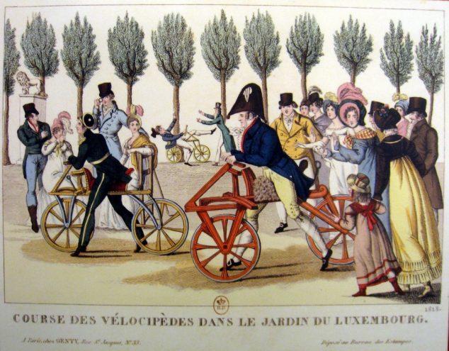 Vélocipede jardin du Luxembourg 1818