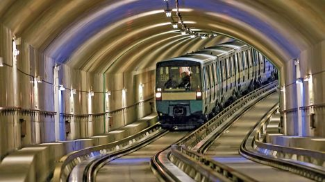 [UNVERIFIED CONTENT] Montreal Metro running in a tunnel arriving at the Montmorency Station (Laval, QC). (Stéphane Gauthier/Getty Images)