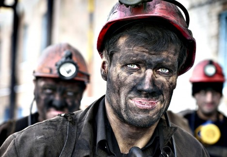 Miners return from their shift at the Ka...Miners return from their shift at the Kalinina coal mine in the eastern Ukrainian city of Donetsk, controlled by pro-Russian rebels on December 1, 2014. Official statistics shows the country needs a million tonnes of anthracite coal per month to feed its power stations. By November 24, only 1.8 million tonnes were left in the reserves. Russia announced it was stopping coal supplies to Ukraine last week, claiming