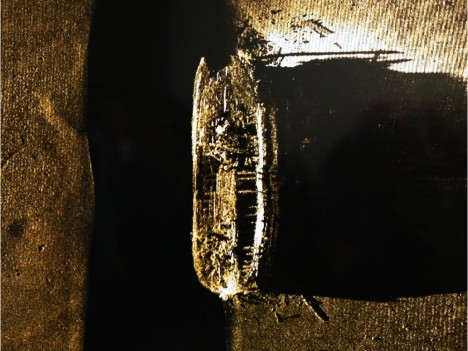 Canada's Prime Minister, Stephen Harper unveils  an image of one of the ships belonging to the ill-fated Franklin Expedition which was lost in 1846, September 9, 2014.   (Jean Levac / Ottawa Citizen)   ORG XMIT: franklin