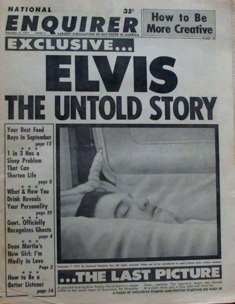 Foto: Elvis Presley: Leží vhrobě nebo na havajské pláži?