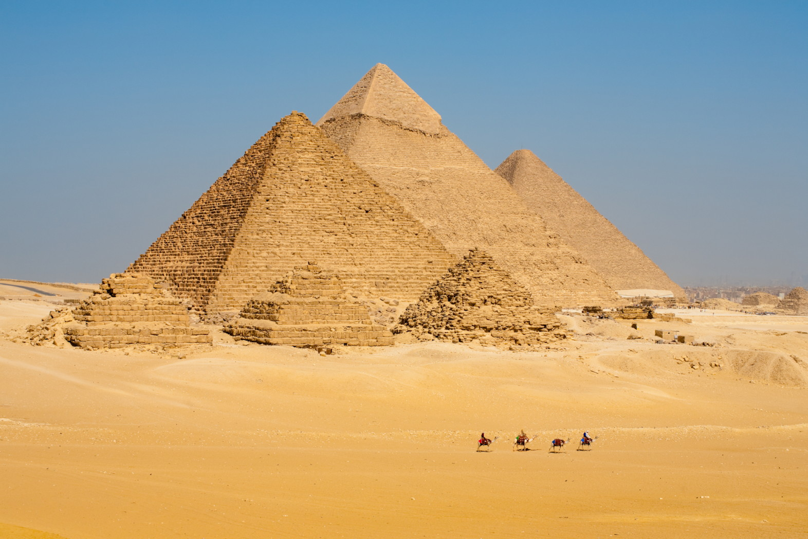 Row Camels Walk Pyramids Together