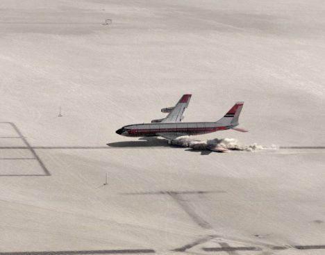 Foto: Crashtest Boeingu 720: Letecká havárie na objednávku!