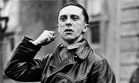 From frustrated writer to party supremo … Joseph Goebbels.