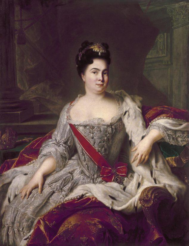 Catharina I  *oil on canvas  *142.5 ? 110 cm  *1717