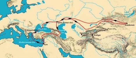 Stejně jako Marco Polo i misionář Vilém Rubruk svoji expedici podrobně zdokumentuje.