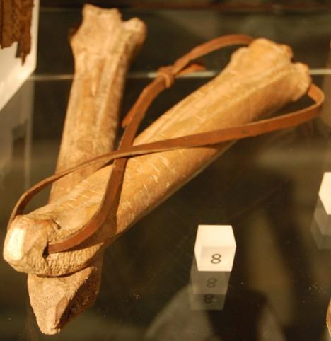 Takto vypadají středověké kostěné brusle.