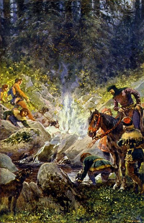 Císař Karel IV. v loketských lesích objeví horké prameny. Založí zde lázně, které mu pomáhají léčit dnu.