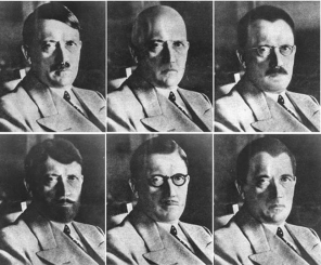 1944 renderings by the US government of possible disguises Hitler might attempt.