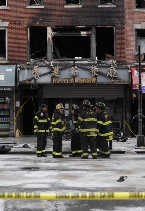 Požár v ulici Bensonhurst v Brooklynu, při kterém zemřelo 5 lidí.