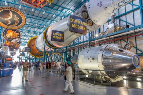 Cape Canaveral, Florida, USA - MARCH 20, 2015: NASA Kennedy Space Center Museum