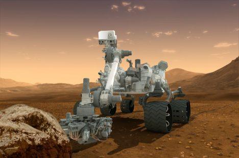 """Curiosity na Marsu """"přesluhuje"""" už více než dva roky. České technologie fungují na výbornou i v drsných podmínkách rudé planety."""