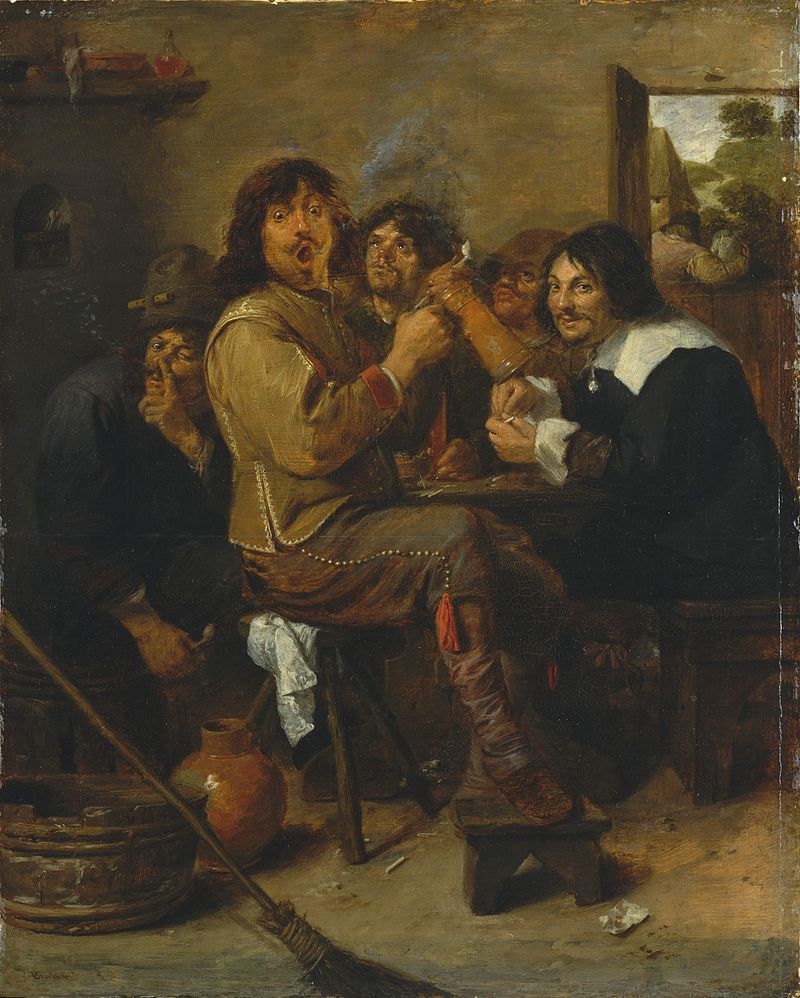 800px-Adriaen_Brower_-_The_Smokers