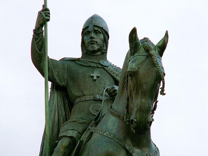 800px-Wenceslaus_I_Duke_of_Bohemia_equestrian_statue_in_Prague_2