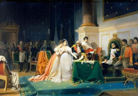 Císařovna Josefína má se svým manželem Napoleonem I. Bonapartem spory. Navíc mu nemůže dát dědice trůnu.