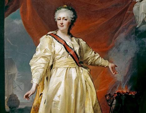 Carevna Kateřina Veliká se se vzbouřenci rozhodně nemazlí.