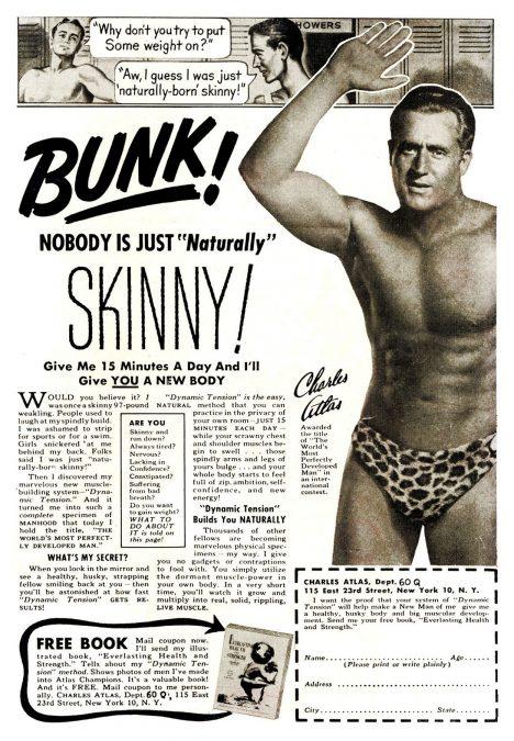Foto: Otec kulturistiky Charles Atlas: Muž, který si postavil tělo!