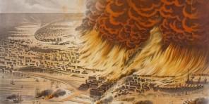 Chicagský požár bývá řazen k největším a nejznámnějším přírodním katastrofám v dějinách Severní Ameriky