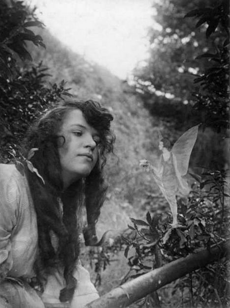 The fourth photograph, Fairy Offering Posy of Harebells to Elsie