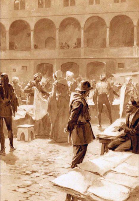 Do pražského Týnského dvora neboli Ungeltu se nikomu nechtěl o, protože tu musel odevzdávat daně.