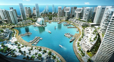 The center-piece of the Marina District of Eko Atlantic