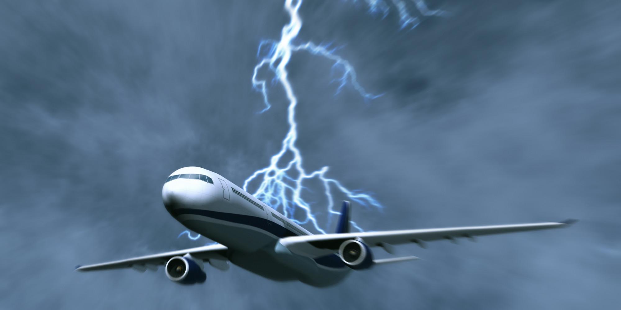 letadlo bouře
