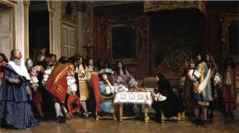 Francouzský král Ludvík XIV. je známý labužník. K hostinám vyžaduje i jídelní lístek.