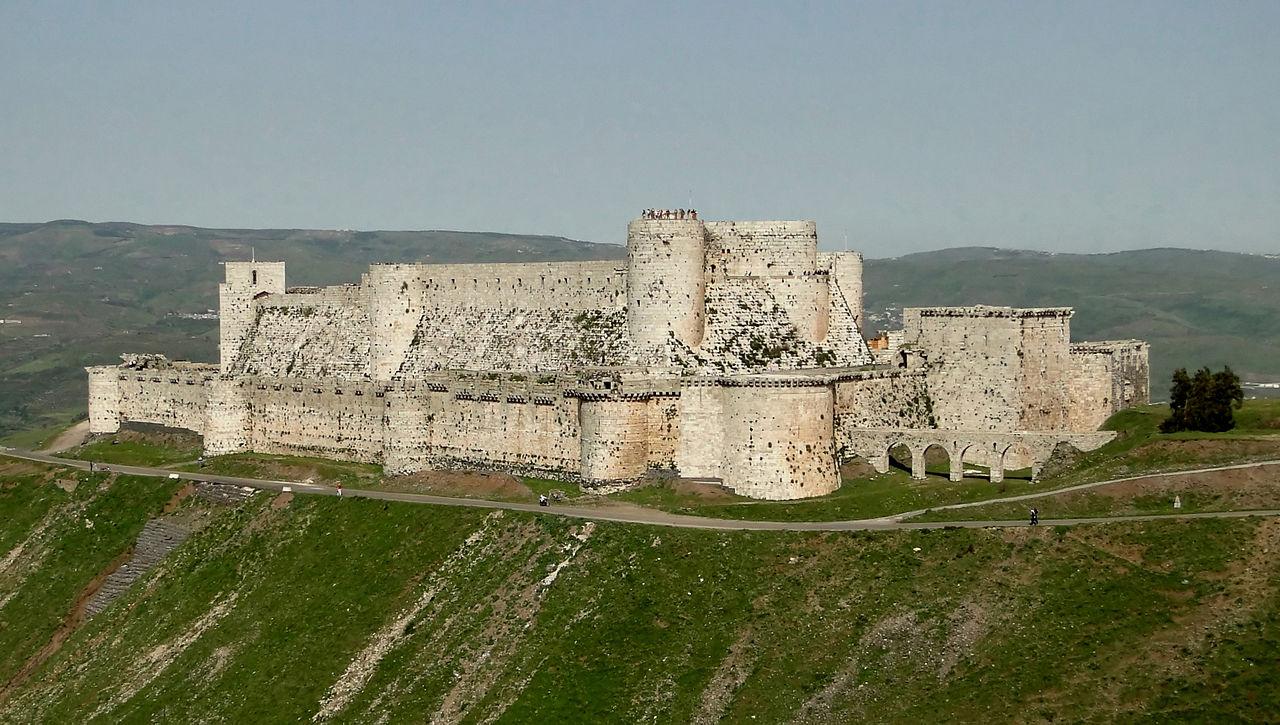 Hrad Krak des Chevaliers je dnes zapsán na Seznamu světového dědictví UNESCO