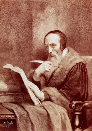 Jan Kalvín touží po vzdělání a studiu knih. Latinsky se naučí už jako malý chlapec.