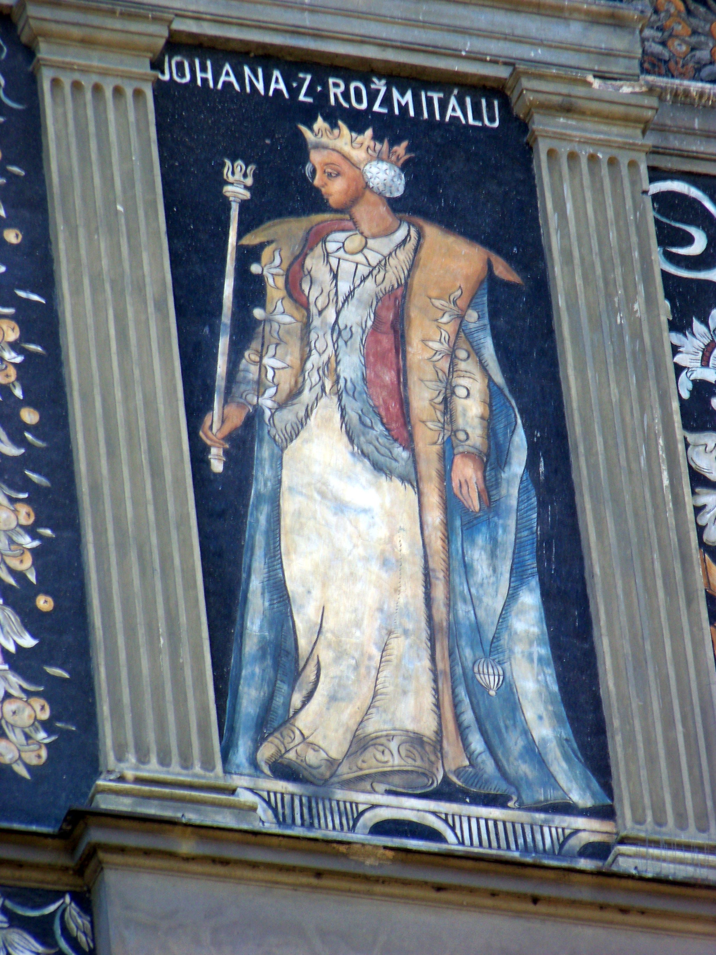 Johana z Rožmitálu se stala svému muži velkou oporou. Stála při něm za jykýchkoli okolností.