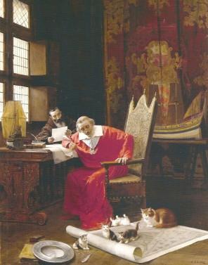 Kardinál Richelieu připraví svým domácím mazlíčkům ty nejlepší podmínky.