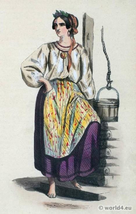 Krásná mladá slovanská žena bude muset posloužit pánovi.
