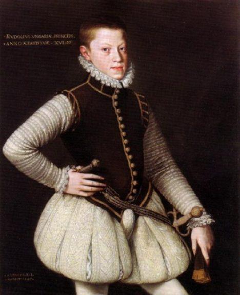 Mladý Rudolf II. se také musí učit etikety na španělském dvoře. Potěšení mu to ovšem nečiní.