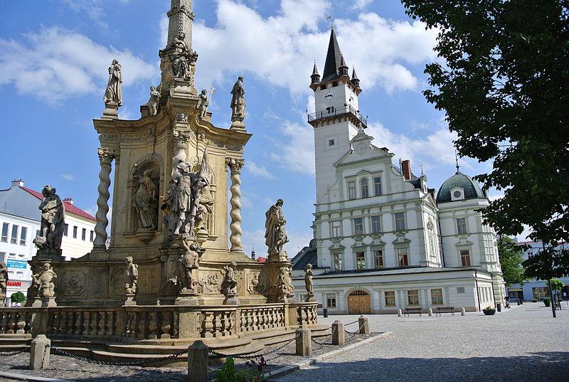 Náměstí v Uničově. V 1. polovině 13. století ho vyměřoval německý kolonista Dětřich.