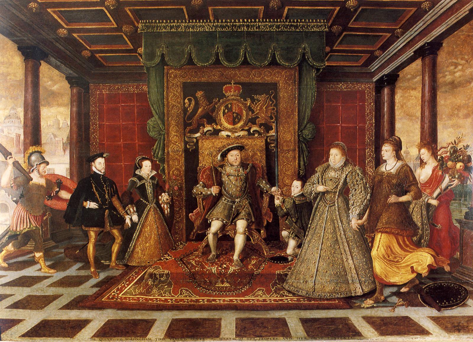 Na anglickém dvoře se v 1. polovině 16. století dobré mravy a galantnost k ženám stávají samozřejmostí