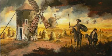 Nejvýznamnějším dílem slavného literáta je bezpochyby román o Donu Quijotovi, který paroduje středověké rytířské eposy.