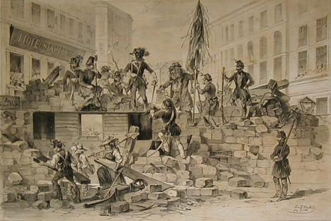 Nepokoje ve Vídni v roce 1848. při jedné z demonstrací je zraněn i mladý Kudlich, tehdy je ještě student.