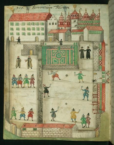 Předchůdce tenisu získává v 17. století stále větší oblibu. Hraje se hlavně na šlechtických dvorech.