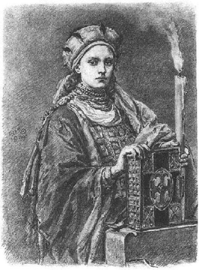 Přemyslovna Doubravka se osobně postará o to, aby se Polsko stalo křesťanskou zemí.