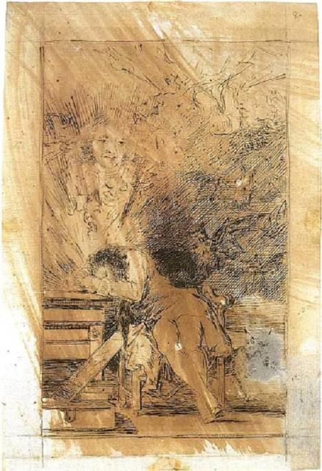 Po nemoci už to není ten samý Goya jako předtím. Je to vidět i na jeho kresbách.