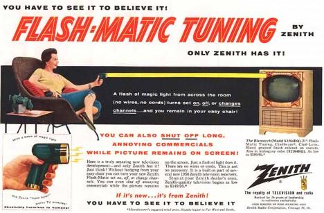 Revoluční novinku zvanou Flashmatic propaguje i rozsáhlá reklama.