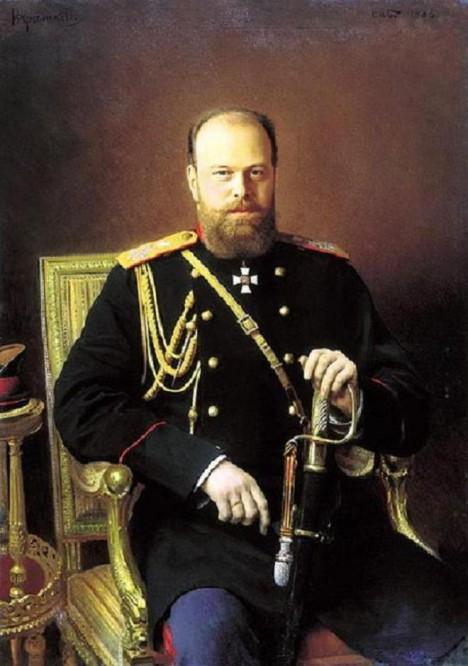 Ruský car Alexandr III. uznává Čajkovského hudební umění.