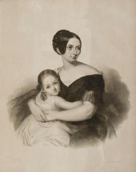 S Carolyne Sayn-Wittgensteinovou (v náručí má dceru) plánuje skladatel dokonce sňatek.