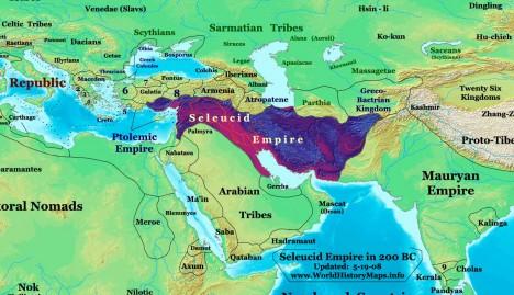 Seleukovská říše se v antice rozkládá na území Blízkého východu. Ráda by si podmanila také Egypt.