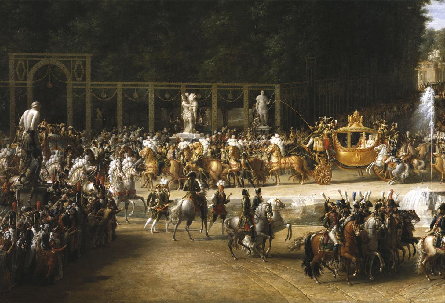 Svatba francouzského panovníka Napoleona I. a dcery rakouského císaře je okázalou slavností.