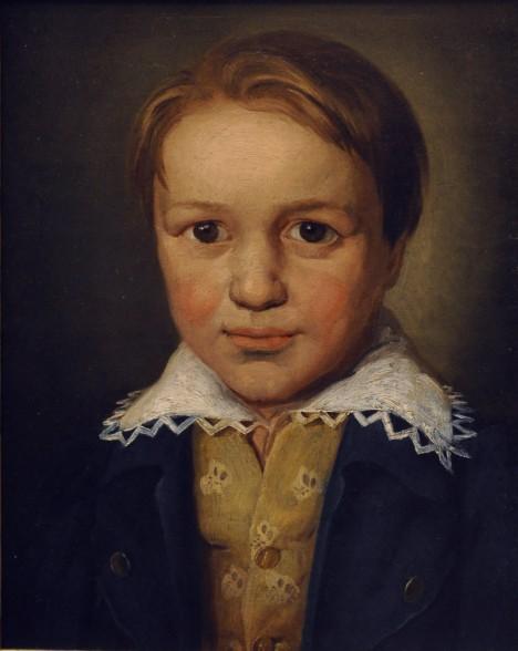 Už jako malý chlapec musí Ludwig pilně cvičit na klavír, jinak dostane rákoskou.