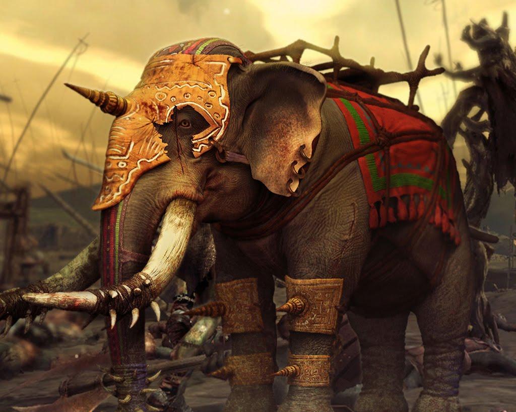 Váleční sloni jsou velmi oblíbenou zbraní mnohých starověkých armád